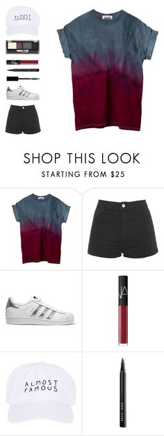 """""""Sem título #488"""" by ouchm4rvel ❤ liked on Polyvore featuring Topshop, adidas Originals, NARS Cosmetics, Nasaseasons, Bobbi Brown Cosmetics, Christian Dior and Maybelline"""