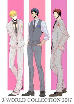 Kuroko no Basuke Kuroko No Basket Characters, Kiseki No Sedai, Kagami Taiga, Generation Of Miracles, Kuroko Tetsuya, Handsome Anime Guys, Kuroko's Basketball, Fanarts Anime, Boy Art