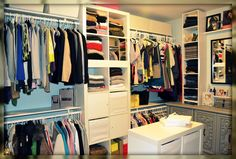 Our master closet was in need of serious organization (see before picture below). We hated our builder's grade wire rack that went around...