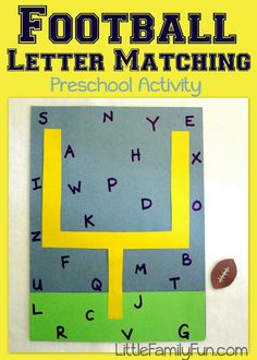 Fun way to practice ABC's with preschoolers!