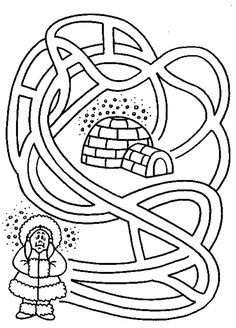 Inuit Girl Want To Go Home Coloring Page : Coloring Sky Polo Norte, Polar Animals, Online Coloring, Coloring Pages For Kids, Arctic, Diy And Crafts, To Go, Grade 2, Winter Time