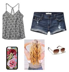 """Beach Wave"" by hailey70707 ❤ liked on Polyvore featuring Forever 21 and Abercrombie & Fitch"