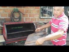 Como hacer un asador de un tanque por Melquisedec Calderon Salas - YouTube