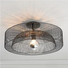 Wire Wheel Semi-Flush Ceiling Light
