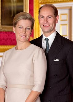 official portrait of The Earl and Countess of Wessex - their 15th wedding anniversary was June 19, 2014