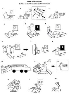 Funny IKEA Instructions. Lol Ecobr Instruction, Ikea Instructions, Instruction Manual Design, Instructions Manual, Design References, Giggles Lols, ...