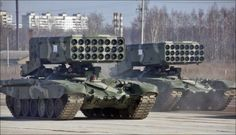 OSCE spotted Russian TOS-1 thermobaric rocket launcher in Ukraine