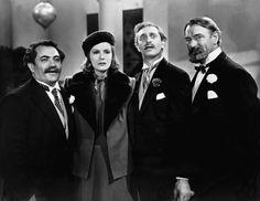Alexander Granach, Greta Garbo, Felix Bressart, Sig Ruman in Ninotschka 1939.  Great cast, Great movie!