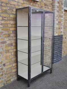 Vintage Display Cabinet / Grand idea for shoes and bags.