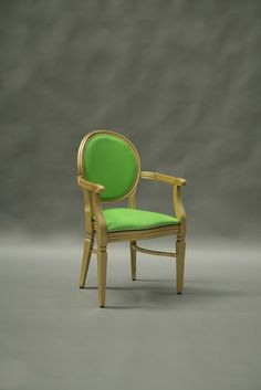 Gold & green chair from Color Of The Year 2017 Pantone, Pantone Color, Green Furniture, Armchair, Vibrant Colors, Tableware, Home Decor, Greenery, Room Ideas
