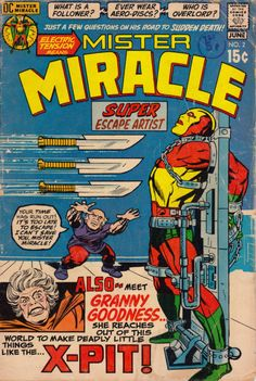 Mister Miracle No. 2 (DC Comics, 1971). Cover art by Jack Kirby.