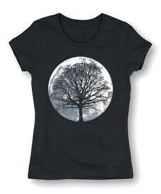 Take a look at this Black Moon Tree Fitted Tee today!