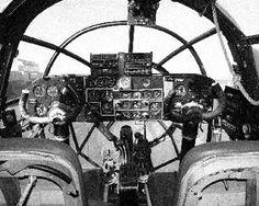 The Heinkel He 111 bomber cockpit.