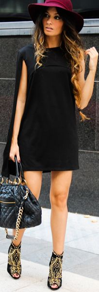 Fab shoes with short black dress