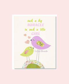 Baby Girl Nursery Prints, Purple Nursery, Nursery Art, Purple Nursery Decor, Birds Nursery Print, Children Art, Pastel Print