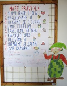 pravidla třídy - Hledat Googlem Class Rules, Montessori, Behavior, Diy And Crafts, Preschool, Classroom, Teacher, Education, Life