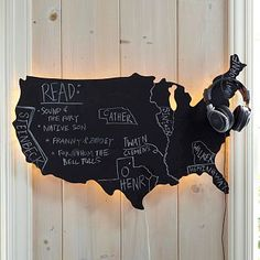 Less-Than-Perfect Life of Bliss: PB Teen-Inspired USA Chalkboard