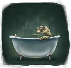 Ahh, a Hot Bath
