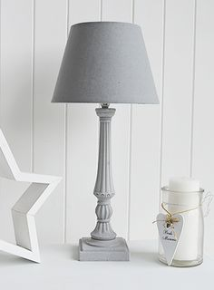 Captivating Grey Table Lamp With Shade