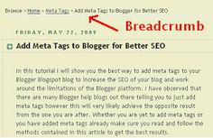 Breadcrumb navigation makes it easy to move around your Blogger Blogspot blog