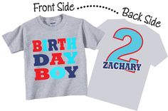 Birthday Boy Shirts and Tshirts for Second Birthday, Third Birthday, Any Birthday Tees by TheCuteTee on Etsy https://www.etsy.com/listing/177354583/birthday-boy-shirts-and-tshirts-for