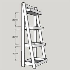Home Dzine Home DIY Projects - Tiered bathroom shelf unit Diy Bookshelf Wall, Diy Bookshelf Plans, Ladder Shelf Diy, Ladder Bookshelf, Bathroom Shelf Unit, Diy Rangement, Simple Bathroom, Bathroom Ideas, Neutral Bathroom