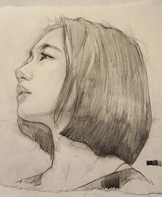 Line art portrait sketches beautiful Ideas for 2019 Portrait Sketches, Art Drawings Sketches, Pencil Portrait, Portrait Art, Pencil Drawings, Life Drawing, Figure Drawing, Drawing Drawing, Fan Art Anime