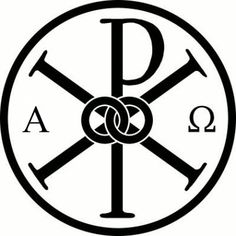 "The Chi Rho is one of the earliest forms of christogram, and is used by some Christians. It is formed by superimposing the first two (capital) letters chi and rho (ΧΡ) of the Greek word ""ΧΡΙΣΤΟΣ"" =Christ in such a way to produce the monogram. Although not technically a Christian cross, the Chi-Rho invokes the crucifixion of Jesus, as well as symbolizing his status as the Christ."