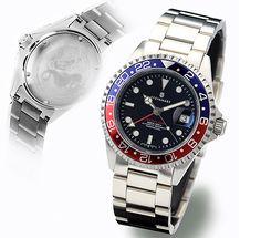 GMT-OCEAN 1 BLUE RED - Diver Watch - Steinhart Watches