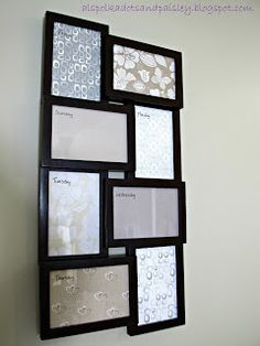 Weekly orginization.......I'm going to do this with picture frames