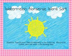 $1 DIBELS Nonsense Word Fluency Word Sort... Improve your students' scores!