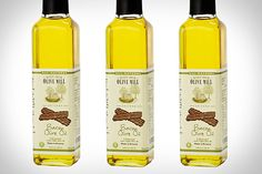 BACON OLIVE OIL  Pop quiz: how do you cook your food in bacon without actually cooking bacon? Cook it in Bacon Olive Oil (15.00), of course. Okay, so it's not really bacon — it's vegan, and therefore simply bacon-flavored — but it is perfect for adding a bit of smokey depth to fried or sautéd foods, or for dunking sandwiches or fine artisan breads. Especially if the sandwich already has bacon on it (yum).