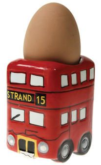 London Bus Egg Cup - fun but it can't be functional?