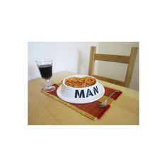Man Bowl Bord 25 cm - Wit - ThumbsUP gadgets, kado's en originele cadeau