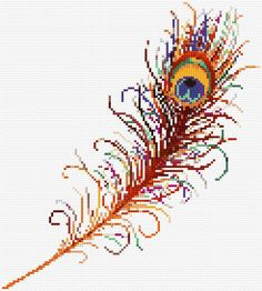 free download feather cross stitch #crossstitch