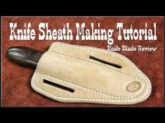 How to Stamp Leather Patterns Leathercraft Tutorial Leather Knife Sheath Pattern, Leather Pattern, Leather Working Patterns, Leather Working Tools, Diy Leather Goods, Custom Leather, Leather Holster, Leather Tooling, Leather Carving