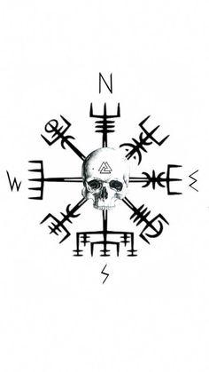 #UltraCoolTattoos Viking Compass Tattoo, Viking Tattoo Sleeve, Viking Tattoo Symbol, Wolf Tattoo Sleeve, Norse Tattoo, Celtic Tattoos, Viking Tattoos, Sleeve Tattoos, Hand Tattoos