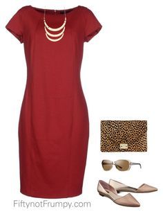 """""""Dress with flats"""" by fiftynotfrumpy on Polyvore"""