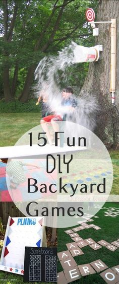 15 Fun DIY Backyard Games or games to take with you camping.
