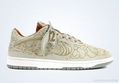 san francisco c3b87 4e590 Chris Lundy x Nike Dunk Low Laser Nike Tattoo, Nike Roshe Two, Sneaker Art