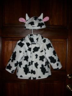 Kids+cow+print+fleece+coat+and+hat+by+abigalstreats+on+Etsy,+$36.00 (Scarlett)