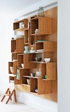 Interesting shelving unit for yr wall