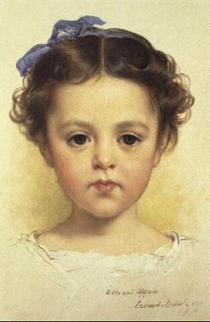 """""""Portrait of a Little Girl"""" -- by Edouard Louis Dubufe (French,1820--1883)"""
