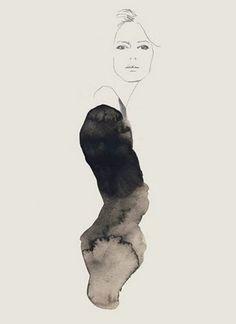 Fashion illustration - contemporary fashion drawing // Bernadette Pascua