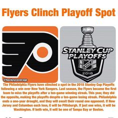 The Playoffs Are Set!  #wwsnflyers #wwsnpanthers #wwsnblues #wwsnavalanche #colorado #stlouis #philadelphia #florida #floridapanthers #philadelphiaflyers #eliminate #elimination #stlouisblues #coloradoavalanche #stanleycup #stanleycupplayoffs #playoffs #goal #puck #icehockey #news #sports #sportsnews #instasports #breakingnews #hockey #hockeynews #nhl #nhlnews #worldwidesportsnews @hockeycoverage