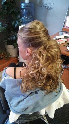 Long hair up do!