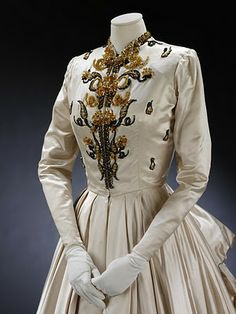 Lady Alexander Howard-Johnston's Fath gown.  1948