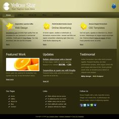 Eco Green is free HTML website template using light green color ...