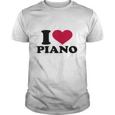 (Top Tshirt Discount) I love Piano [Tshirt Facebook] Hoodies, Funny Tee Shirts