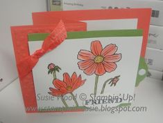 Stampin' Up!- Check out this cute Z fold card using the set- 'Helping Me Grow'!